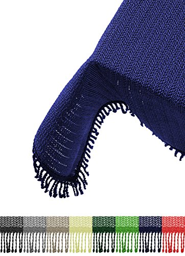 Brandsseller Gartentischdecke Tischdecke - wetterfest und rutschfest für Garten, Balkon und Camping - Eckig 130 x 160 cm - Farbe: Blau