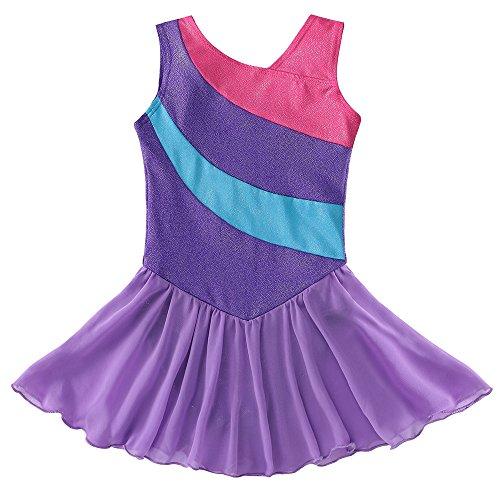 Mallot ballet/danza tutú chica / vestido sin mangas