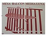 Siena Mybalconia 628320 Balkonhängetisch 100 x 50cm, weiß Kunststoffplatte
