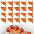 Flooring Spacers,Laminate Wood Flooring Tools,Compatible w/Vinyl Plank, Hardwood & Floating Floor Installation etc,Hardwood Flooring w/1/4 & 1/2 Gap,Special Triangle Stay in Place (20pack)