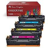 Toner Kingdom Reemplazo de cartucho de tóner compatible para HP 131X CF210X CF210A 131A per HP LaserJet Pro 200 Color M251n M251nw M276nw,128A CF320A CM1415FNW CP1525N,125A CB540A CP1515n CP1215,4PK