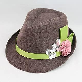 SGJFZD Flannel Flower Little Hood Wild Fashion Hat Beret Homme Boina Hooded Ruili Magazine Style Flower Hood Lady Pop (Color : Coffee)