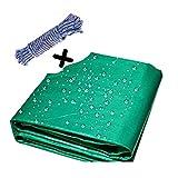 Abdeckplane Holz LJIANW Schwerlast Tarp Sheet, Mehrzweck Wasserdicht UV-widerstandsfähig Polyethylen Bodendecker Camping Zelt Regenfest, 22 Größen (Color : Green, Size : 1.9x1.9m)