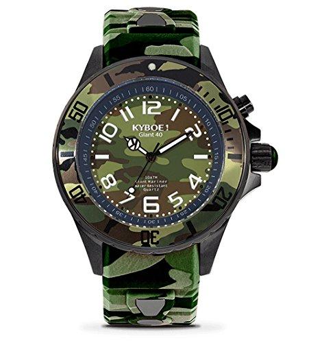 Kyboe. Reloj Analógico para Mujer Quartz silicona verde CS de 40–004