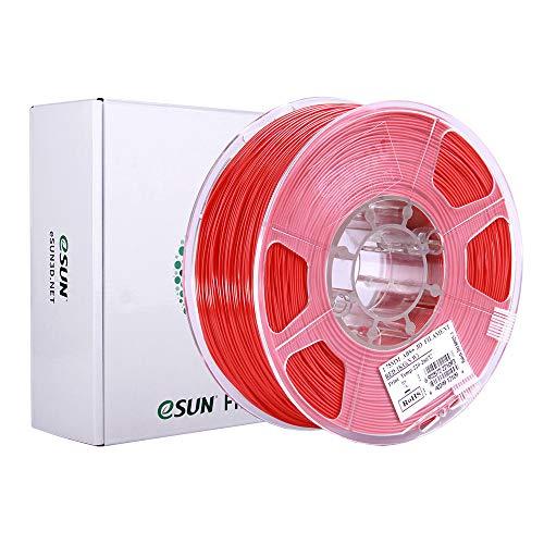 eSUN Filamento ABS Plus 1.75mm, Stampante 3D Filamento ABS+, Precisione Dimensionale +/- 0.05mm, Bobina da 1KG (2.2 LBS) Materiali di Stampa 3D per Stampante 3D, Rosso