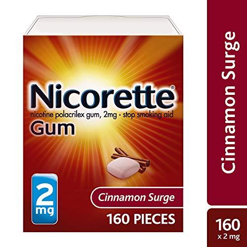 Nicorette Nicotine Gum to Quit Smoking, 2 mg, Cinnamon Surge Flavored Stop Smoking Aid, 160 Count