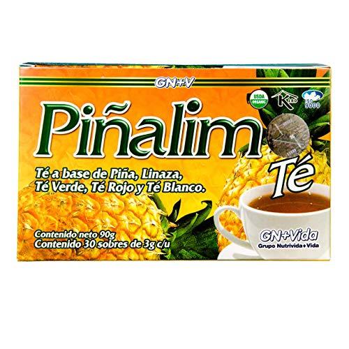 Nutraholics Pina-lim Tea Te de Pina-lim Mexican Version- Pineapple, Flax, Green Tea, White Tea - 30 Day Supply