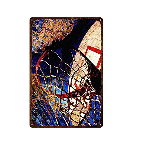 yaoxingfu Jigsaw puzzle 1000 piece Sports basketball sign board metal retro art retro painting jigsaw puzzle 1000 piece falcon Great Holiday Leisure,Family Interactive Games50x75cm(20x30inch)
