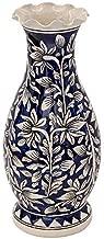 Craftghar Decorative Flower Vase for Living Room   Made of Ceramic 12 inch Long Vase   Handmade Flower Vase Ceramic