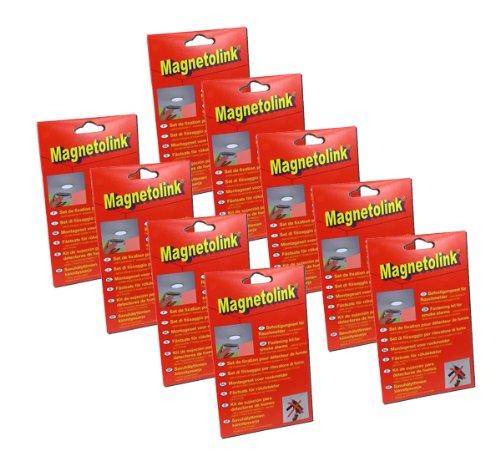 GEV Magnetolink für Rauchmelder - 9er Pack