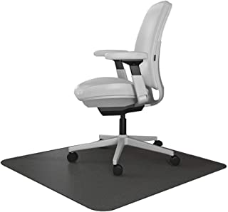 Resilia Office Desk Chair Mat – for Carpet (with Grippers) Black, 36 Inches x 48 Inches, Made in The USA