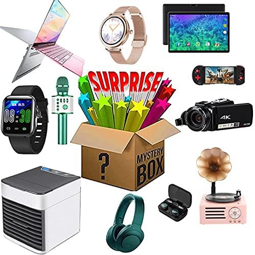 Caja misteriosa de productos electrónicos, una caja de la suerte para un regalo sorpresa, productos sorpresa para regalos agradables que pueden ser: teléfonos móviles, drones, altavoz Bluetooth, etc