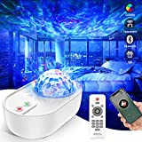 Galaxy Star Projector Night Light Ocean Wave Star Lamp Sky Projector with Bluetooth Music Speaker and Remote Control Galaxy Ceiling Projector LED Light for Bedroom Party Baby Kids Adults Gift