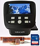 MINOLTA Film & Slide Scanner, Large 5' Screen, Convert Color & B&W 35mm, 126, 110 Negative & Slides, Super 8 Films to High Res 22MP JPEG Digital Photos, 16GB SD Card, Worldwide AC Adapter (Black)