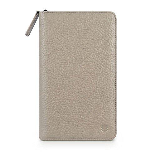 Beyzacases Schutzhülle für Sony Xperia T2 / Z Ultra (groß, Geldbörsen-Stil) Creme