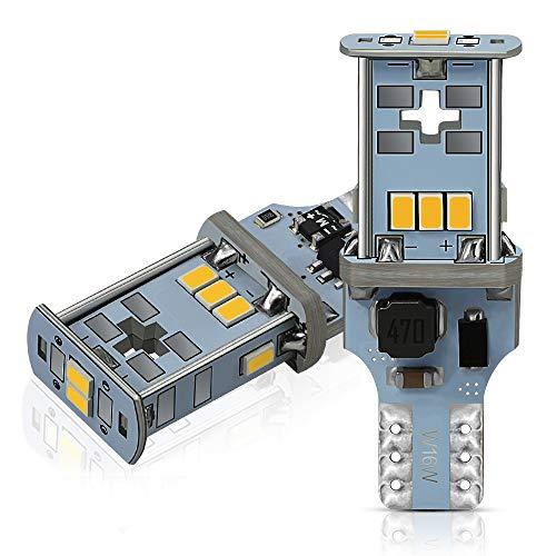 AUXITO T16 LED バックランプ 爆光1300ルーメン キャンセラー内蔵 バックランプ T16 / T15 3020LED10連 18...