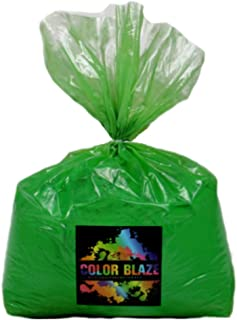 Color Powder Green 25lbs -Ideal for fun run events, Holi Festivals, youth group color wars and more! Blue, Orange, Red, Purple, Pink, Yellow and Teal Available