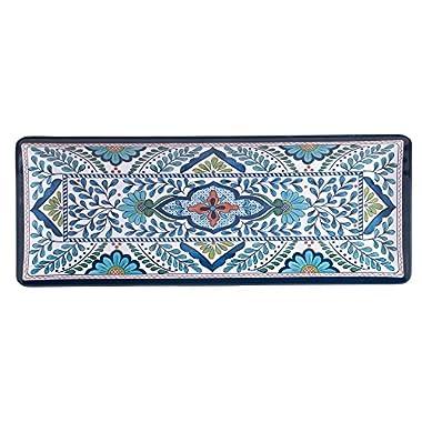 Certified International Talavera Melamine 19  x 8  Rectangular Platter, Multicolor