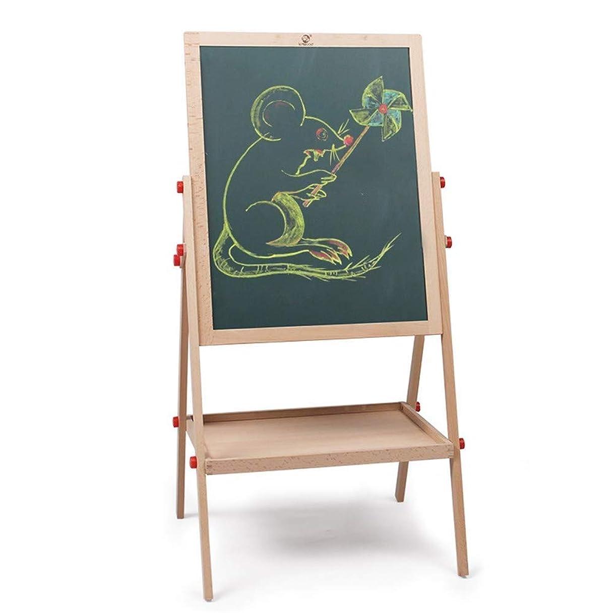 共和党十分失うROLLLKJ 小さい子供および幼児のための両面の木の黒板の永続的な絵画イーゼルは絵画フレームを持ち上げることができます