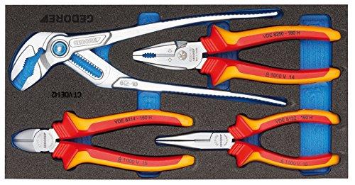Gedore 1500 CT1-VDE 142 VDE-tangenassortiment in Check-Tool-module