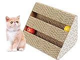 Old Tjikko Katzen kratzbrett, Kratzpappe für Katzen,Kratzbrett mit Katzenminze für Kleine Mittlere Katze,Kratzspielzeug aus Recycebar Wellpappe