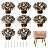 YSDMY 8 Pzs Bronce Vintage Pomo de Armario Redondo 30mm Pomos de Armario,elegantes pomos de...