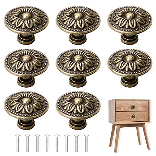 YSDMY 8 pezzi Pomelli per Mobili Vintage 30mm manopole per cassetti per mobili armadio guardaroba,ect