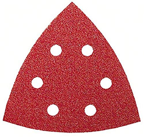 Bosch Schleifblatt (für Deltaschleifer verschiedene Materialien, 5 Stück, 93 mm, Körnung 80)