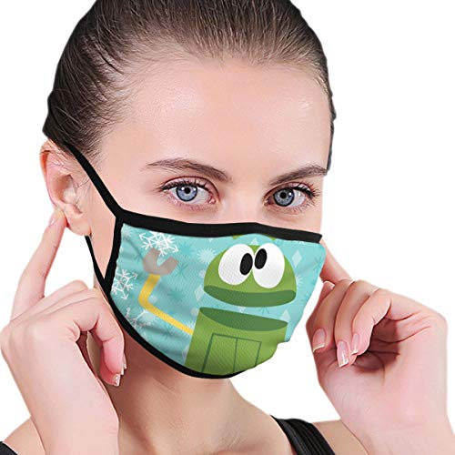 Binrate Unisex Dust Face Cover Green Storybots Christmas Special Washable Breathable Multi Usage Face Mask Mouth Dust Reusable Cover