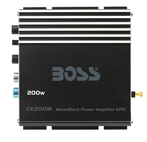 Lowest Prices! BOSS Audio Systems CE200M Chaos Epic 200 Watt, Monoblock, 4 Ohm Stable Class AB, Mosf...