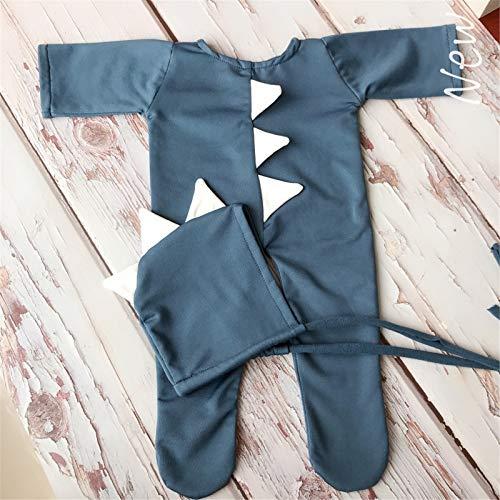 Disfraces de fotografía para bebés Newborn Baby Girl Boy Traje fotografía Fotografía Recién Nacido Dinosaurio One Piece Ropa Accesorios de fotografía de ropa de bebé ( Color : Azul , Size : One size )