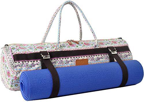 #DoYourYoga XL Yogatasche »Malati 100% Cotton-Edel-Canvas (Segeltuch), für Yoga-, Pilates-, Fitness- und Gymnastikmatten bis Größe von 186 x 62 x 1,5 cm, in 12 Designs, Rosa Muster