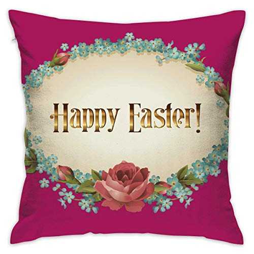 Throw Pillow Cover Happy Easter Bed Sofa Pillow Case Cushion Cover