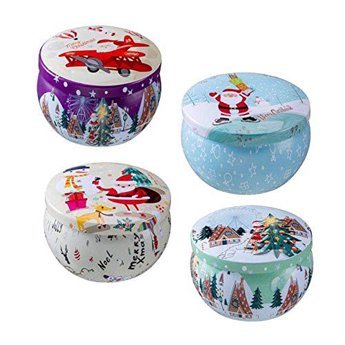 Christmas Scented Candles Gifts Set,Natural Soy Wax Aromatherapy Candles for Women,Portable Travel Tin Candles Aromatherapy Candles