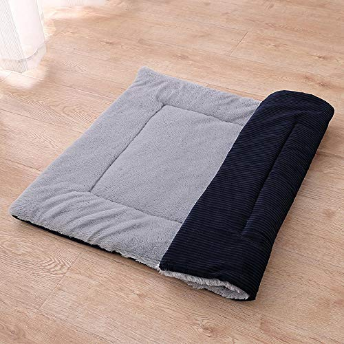 Orthopedic Memory Foam Extra Large Dog Bed,Cat Bed Dog Bed Pet Mat Winter Thicken Warm Cat Dog Blanket Puppy Sleeping Cover Towel Cushion House For Small Medium Large Dog-Dark blue_60x40cm/23.6*15.7in