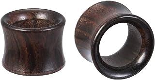 ZeSen Jewelry Sandalo Dilatatori Orecchio, Kit per L'allungamento Dell'orecchio, Tunnel Dell'orecchio in Legno Nero