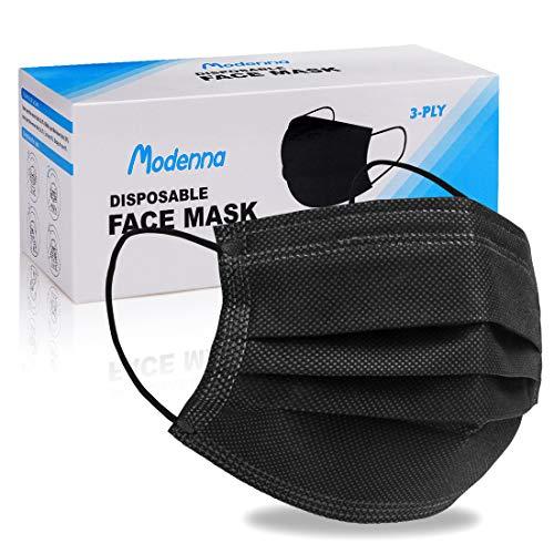 Modenna Disposable Face Mask Black 50Pcs