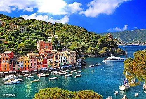 HCYEFG Puzzle da 1000 Pezzi Puzzle per Bambini Serie Italia-Portofino Liguria Giocattoli Educativi per Bambini Puzzle per Adulti