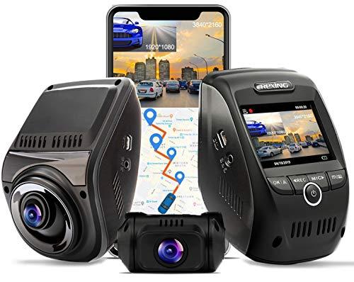 REXING V1P MAX 4K UHD Dual Channel Dash CAM, 3840X2160 Front+1080p Rear, WiFi GPS Car Dash Camera...