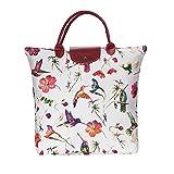 Signare tapiz bolsas reutilizables tote bag bolsa compra para mujeres con diseños de aves (Colibrí)