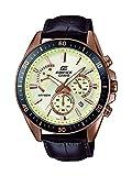 Casio Reloj Cronógrafo para Hombre de Cuarzo con Correa en Cuero EFR-552GL-7AVUEF