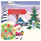 Libro para colorear del calendario de Adviento: calendario adviento kinder,Libro de colorear de calendario de Adviento para niños,Libro de colorear del calendario de Adviento de Navidad