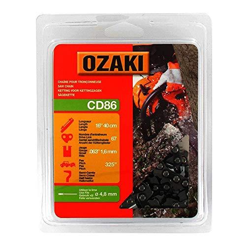 Ozaki - Cadena de Motosierra, semicuadrada, bajo Casquillo: 325