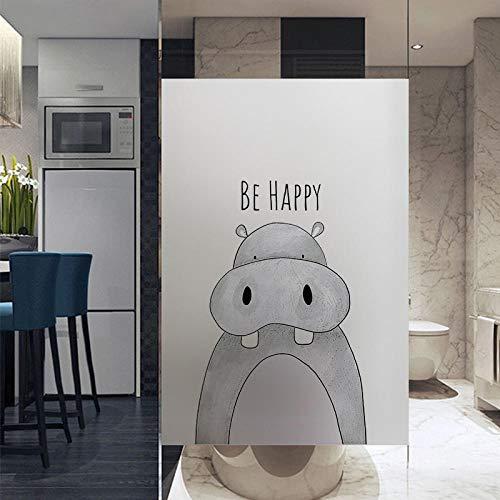 KUNHAN raamsticker Cartoon leeuw olifant hert venster film glas in lood film overdracht vinyl venster glas sticker douche deur film geen lijm