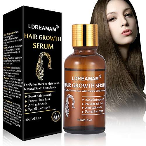 Sérum de crecimiento del cabello,Tratamiento para el Cabello,Antipérdida de Cabello,Promueve más Cabello Ticker,más Completo y más Rápido Crecimiento,Crece Pelo para Hombre y Mujer