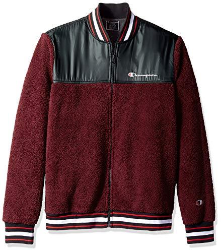 Champion LIFE Herren Sherpa Baseball Jacket Isolierte Jacke, Glühbeere/Schwarz, Small