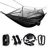 Anyoo Camping Hammock with Net Nylon Parachute Ultra Light Single Hammock for Hiking