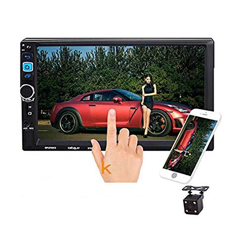 LUOAN AUTO PARTS 2 DIN 7 Pollici 4LED Autoradio Autoradio 8702 MP5 Lettore Touch Screen Bluetooth FM Vivavoce Stereo Specchio di Navigazione Collegamento Autoradio