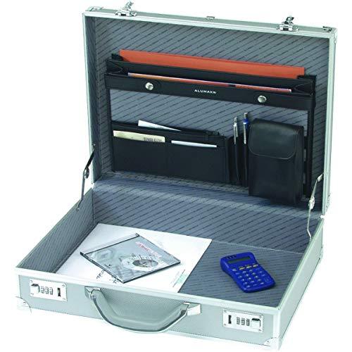 Alumaxx Attachékoffer OCTAN, Aktenkoffer aus Aluminium, Geschäftskoffer Silber, Alu Business Koffer