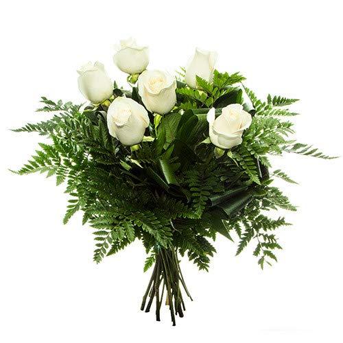 Florclick - Bouquet de 6 rosas blancas - Ramo de flores naturales en 2